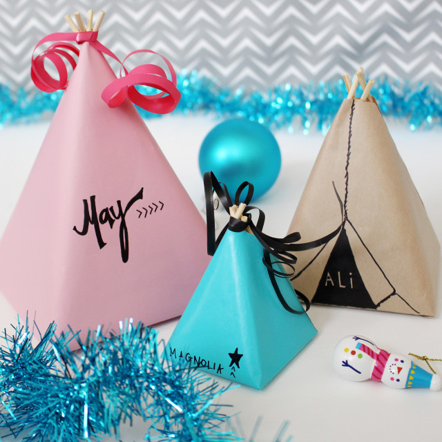 Wrap your gifts up as little teepees! | A Joyful Riot @ajoyfulriot