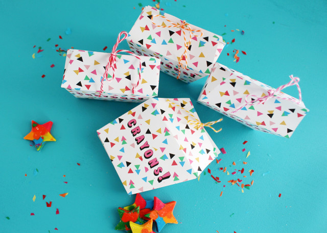 Cute crayon boxes are perfect gifts for kids or party favors! @ajoyfulriot