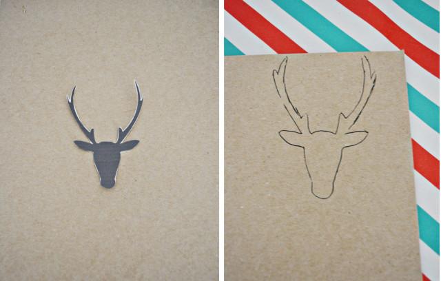 Glittery deer antler ornaments | A Joyful Riot @ajoyfulriot