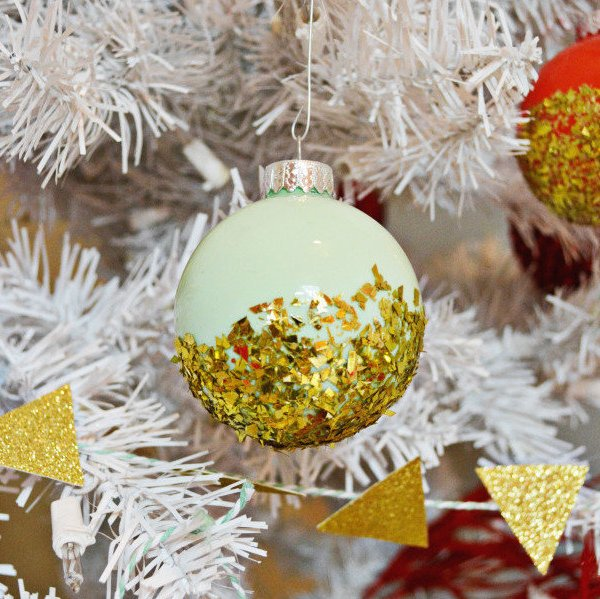 Dipped Glitter Ornaments