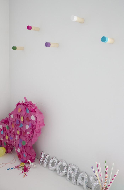 Color Blocks Wood Wall Hooks | A Joyful Riot