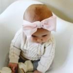 DIY Baby Oversized Bow Headwraps