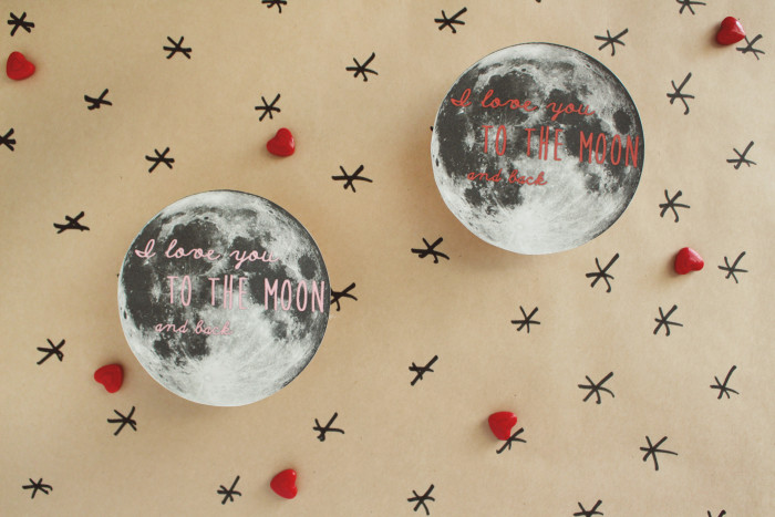 I love you to the moon pie! Free printable moon valentine | A Joyful Riot