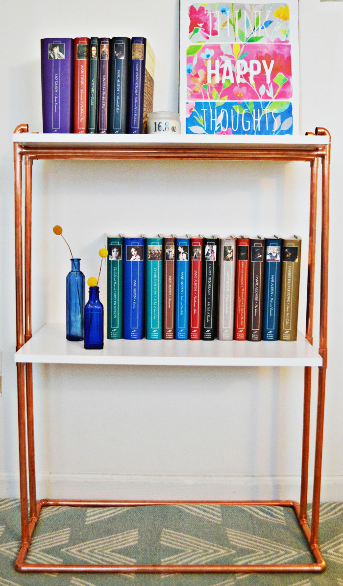 You Can Either Keep The Bookcase As Is Or Add On Elbows To Top Like I Did Copperbookcase Copper 20 21