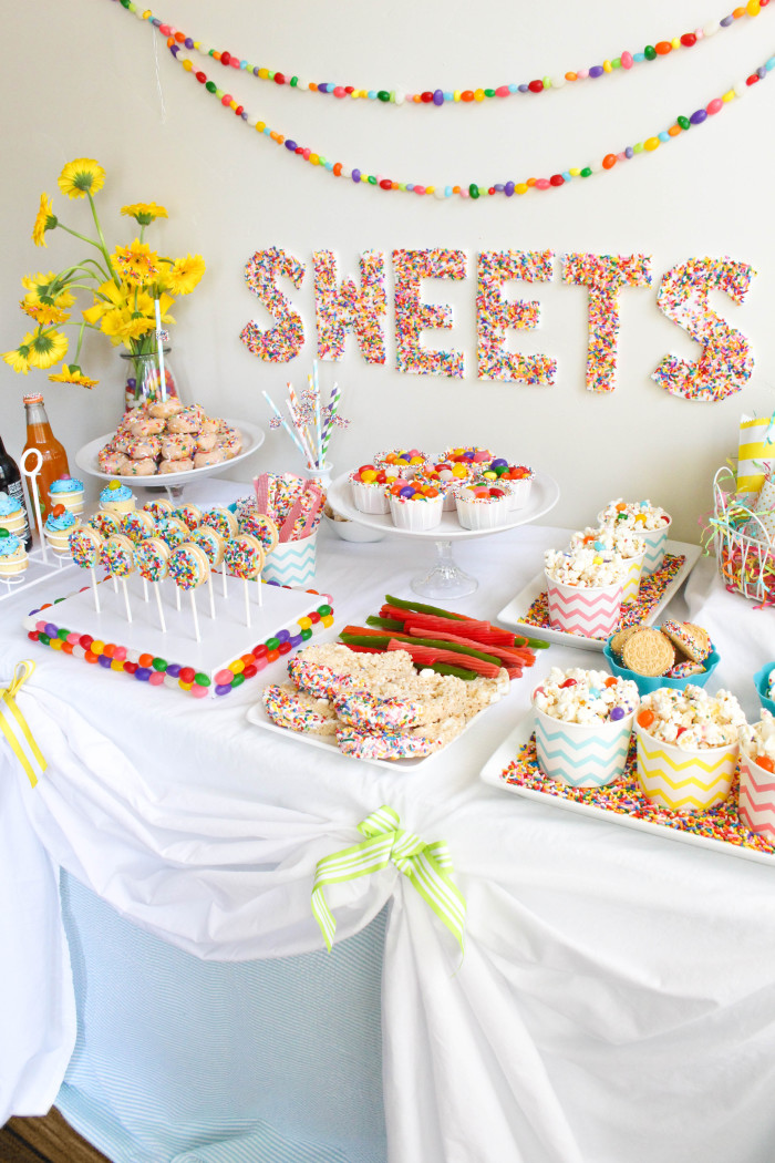 A sweet Sprinkles & Jellybeans Easter party! Tons of sprinkle treats and ideas | A Joyful Riot