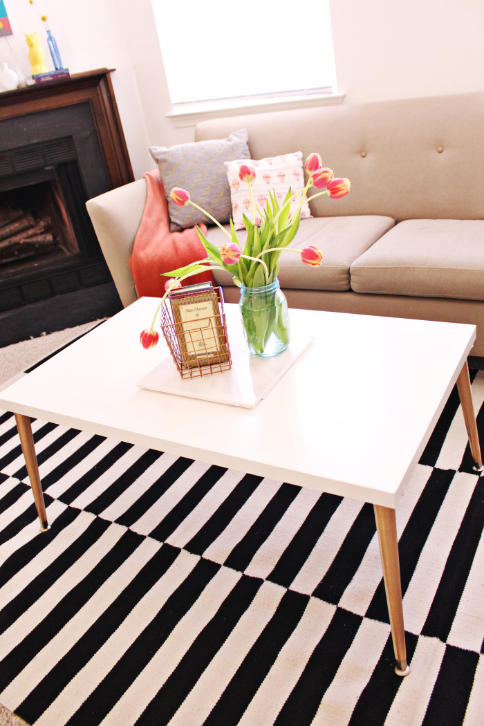 Mid Century Diy Coffee Table A Joyful Riot