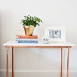 Marble and Copper Side Table