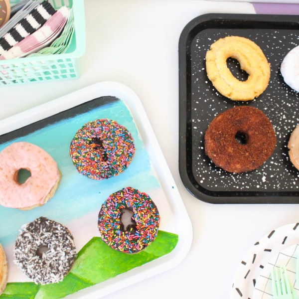 DIY Kenny Scharf Inspired Donut Trays