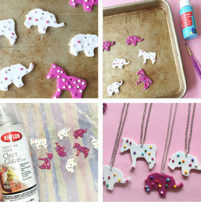 animal cookie necklace steps 2