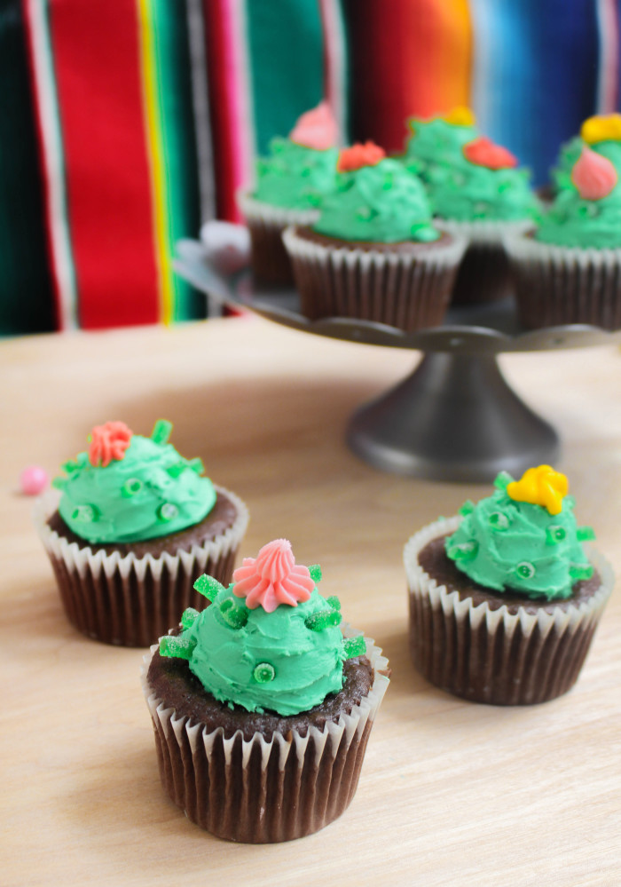 Easy cactus cupcakes aren't prickly, just sweet! Via A Joyful Riot