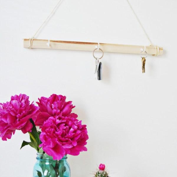 Hanging Wood Key Holder