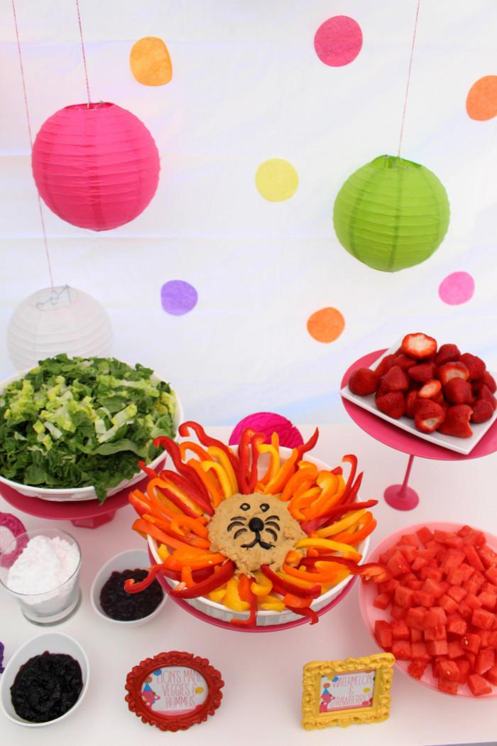 Pink and Polka Dot Circus Animal Cookie First Birthday Party via A Joyful Riot