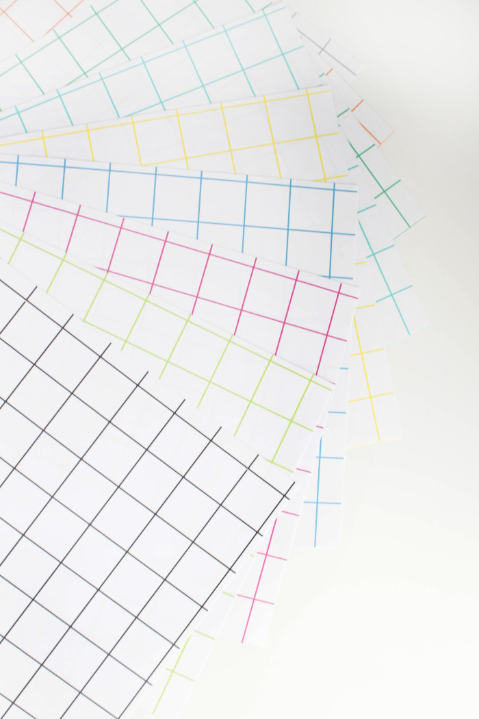 Free printable grid patterns in 20 colors, perfect for wrapping Father's Day gifts or using as backgrounds! From A Joyful Riot