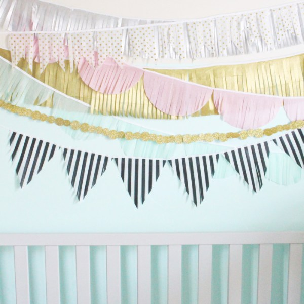 DIY Fringe Tissue Garlands