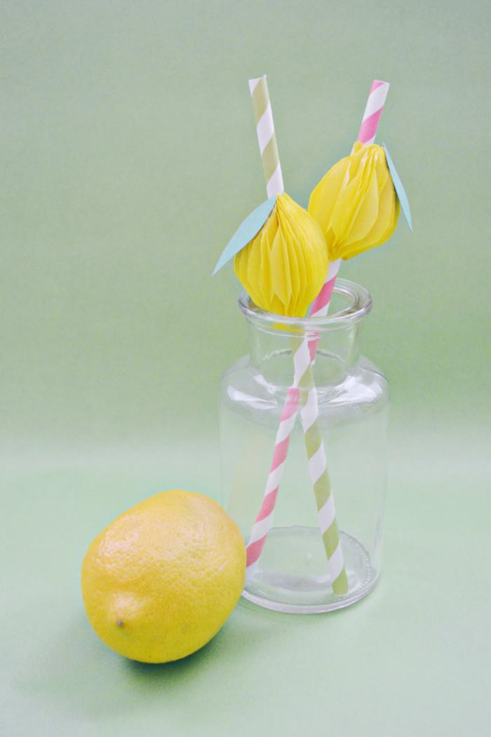 Honeycomb lemon straws a joyful riot for Lemon shaped lemonade stand