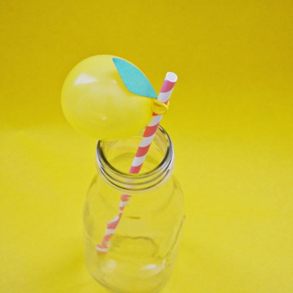 Lemon Balloon Straws