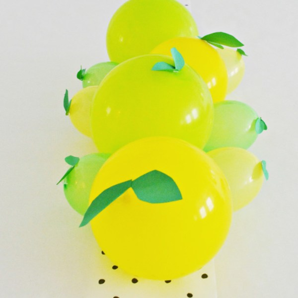 Lemon + Lime Balloon Centerpiece