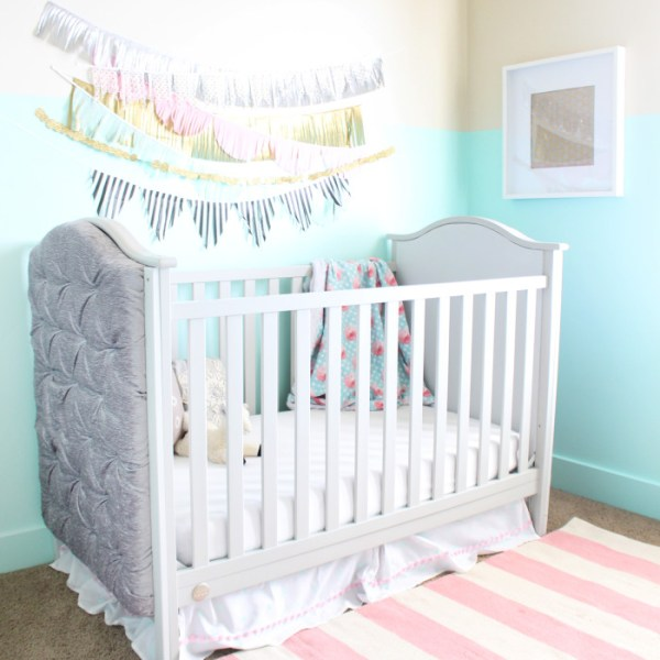 DIY Restoration Hardware Inspired Tufted Crib