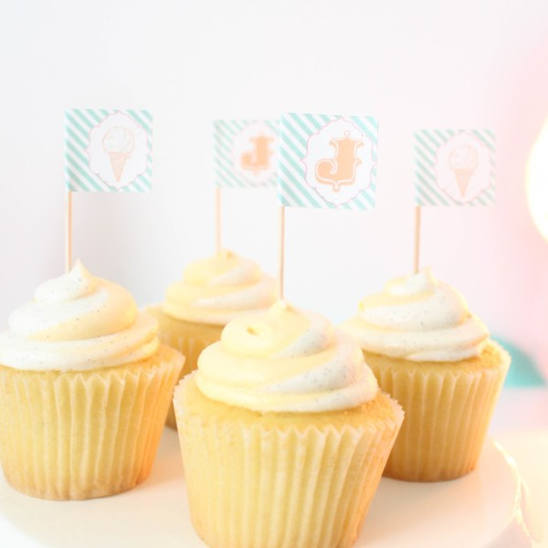 Address Label Cupcake Toppers (Free Printables)