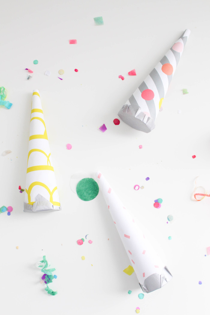 DIY confetti blowers with a free celebration paper pack (confetti, glitter, scallops!) ajoyfulriot.com @ajoyfulriot