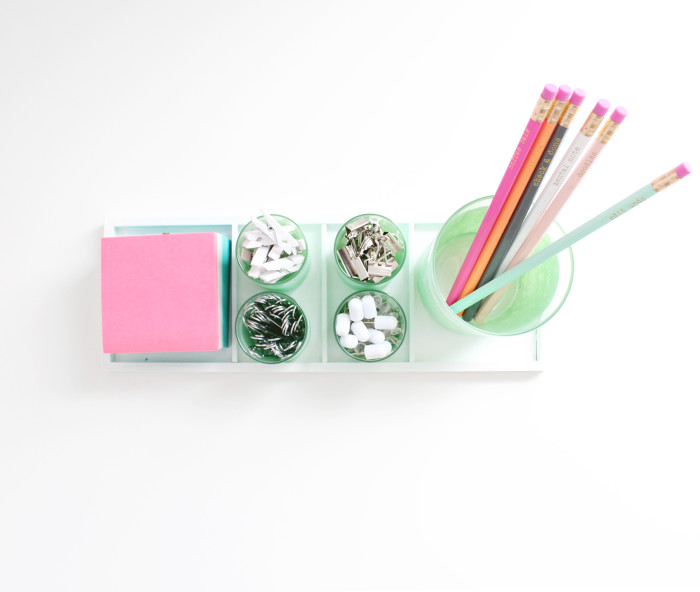 DIY desk caddy + 4 other nifty desk crafts! | A Joyful Riot