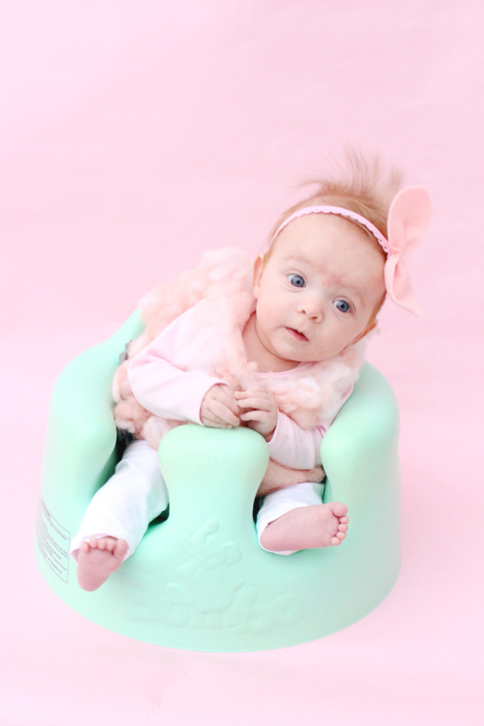 DIY baby cotton candy costume for the sweetest first Halloween ever ajoyfulriot.com @ajoyfulriot 5