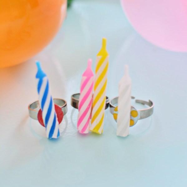DIY Birthday Candle Rings