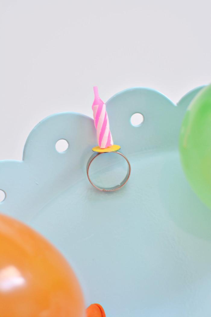 diy birthday candle rings a joyful riot