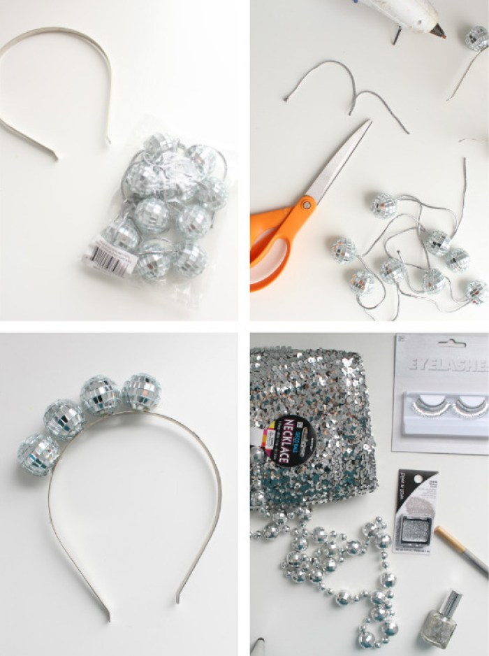 Be a sparkly disco ball this halloween (minus the awkward ball part) via ajoyfulriot.com @ajoyfulriot