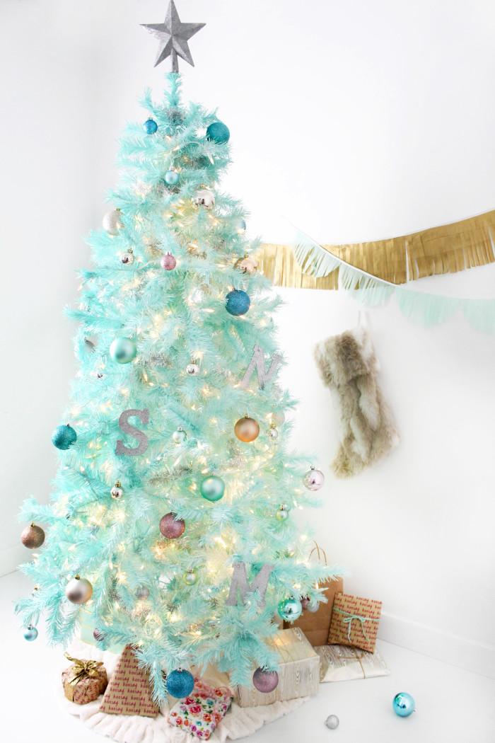 DIY Mint Green Christmas Tree | A Joyful Riot