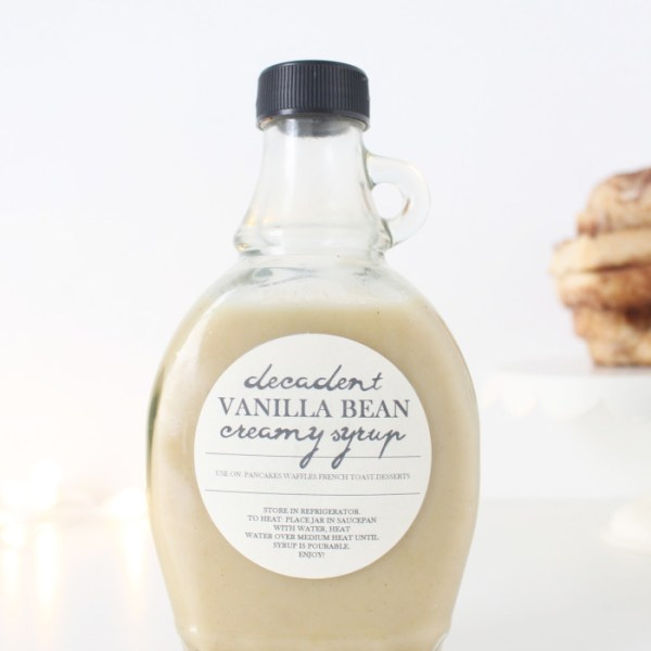 Decadent Vanilla Bean {Ice Cream} Syrup