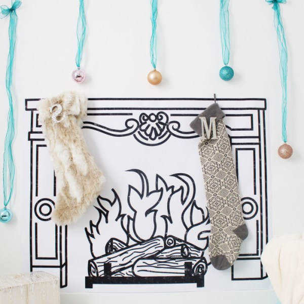 DIY Printed Faux Fireplace | Free Printable