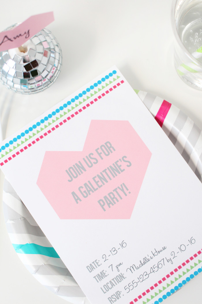 geometric Galentine's day party with healthy treats and free printables ajoyfulriot.com @ajoyfulriot