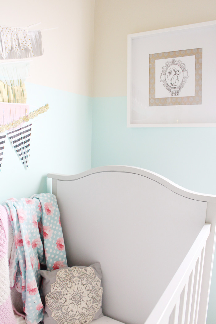 mint, pink, black, gold and silver nursery 11