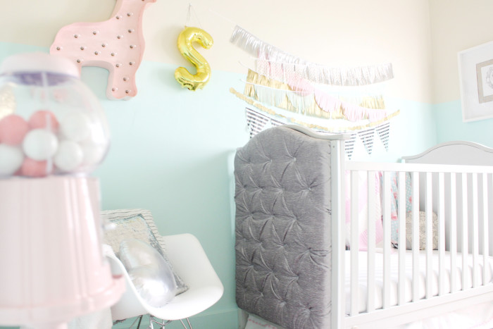 mint, pink, black, gold and silver nursery 19