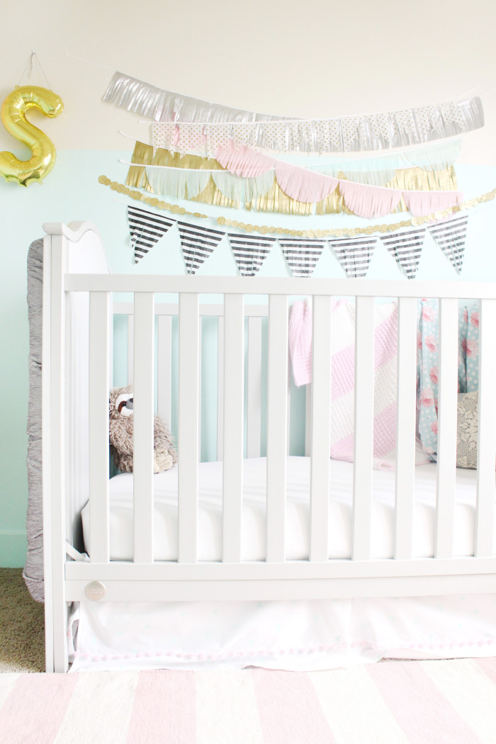 mint, pink, black, gold and silver nursery 20