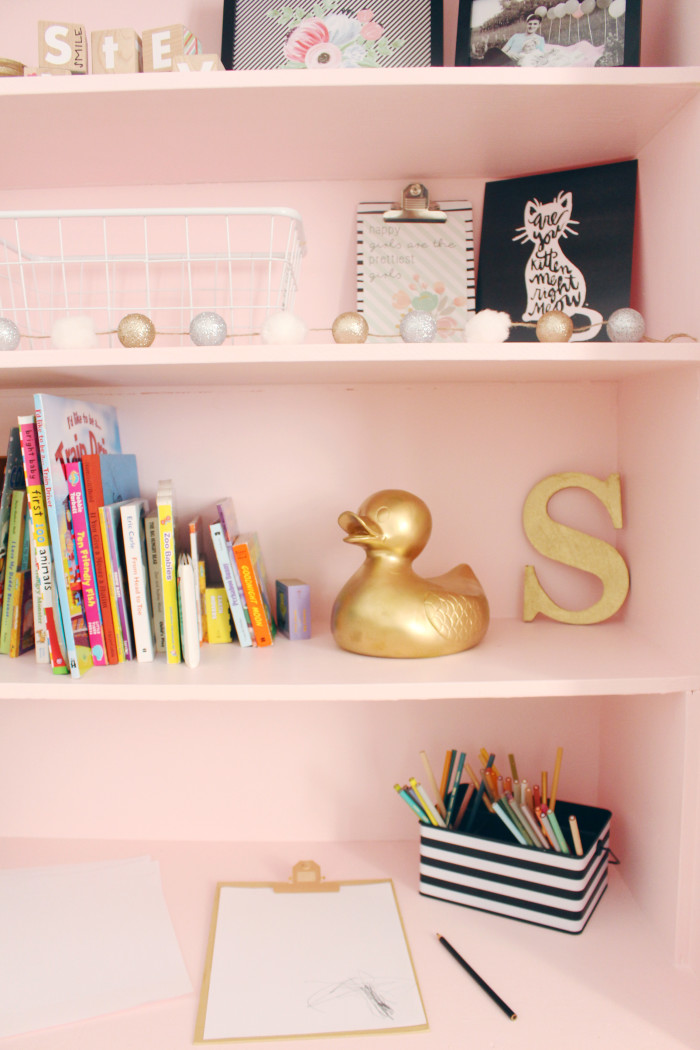 Black, white, pink nursery via ajoyfulriot.com @ajoyfulriot 23