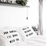 DIY Lyric Pillowcases