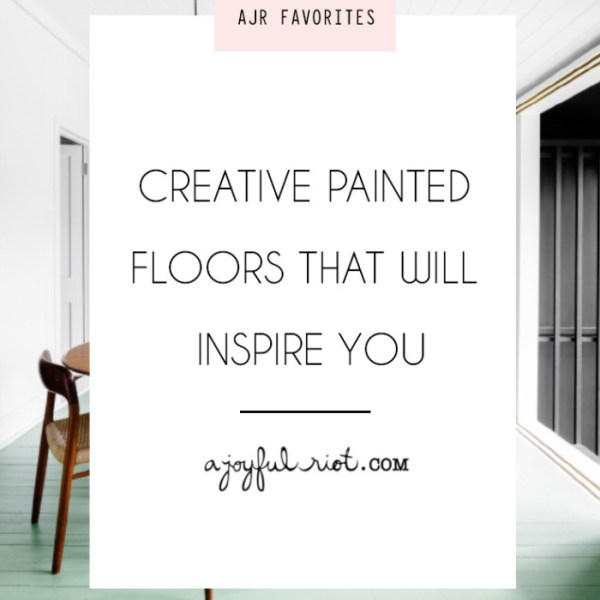 Creative Painted Floors That Will Inspire You