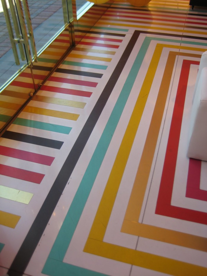 Colorful Stripes U2013 As What Is A Surprise To No One, This Floor Was Featured  In A Kate Spade Store.