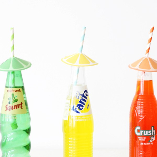 Citrus Straw Umbrellas | Free Printable