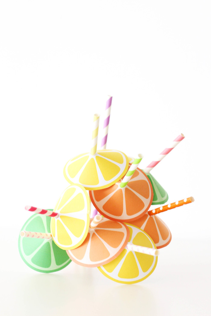 Citrus Straw Umbrella free printables from @ajoyfulriot-2