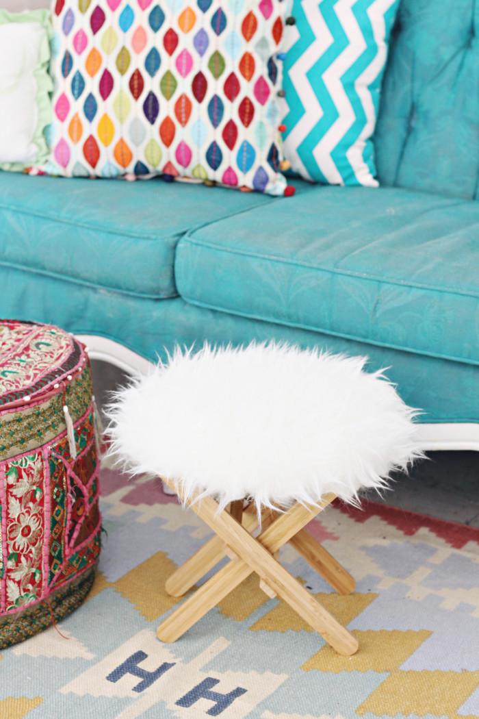 Ikea Hack The Easiest Furry Footstool A Joyful Riot