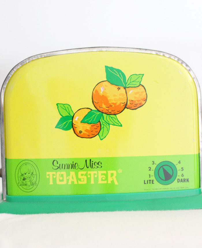 Vintage citrus toaster from birthday party