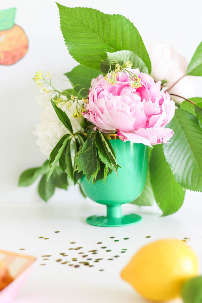 Vintage Citrus Floral Birthday Party via ajoyfulriot.com-15