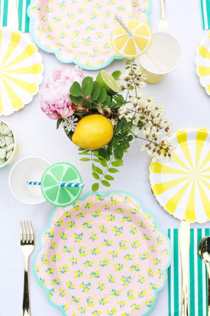 Vintage Citrus Floral Birthday Party via ajoyfulriot.com-28
