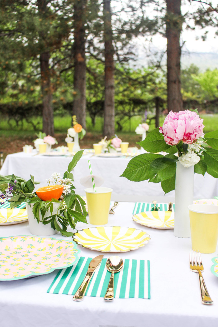 Vintage Citrus Floral Birthday Party via ajoyfulriot.com-29