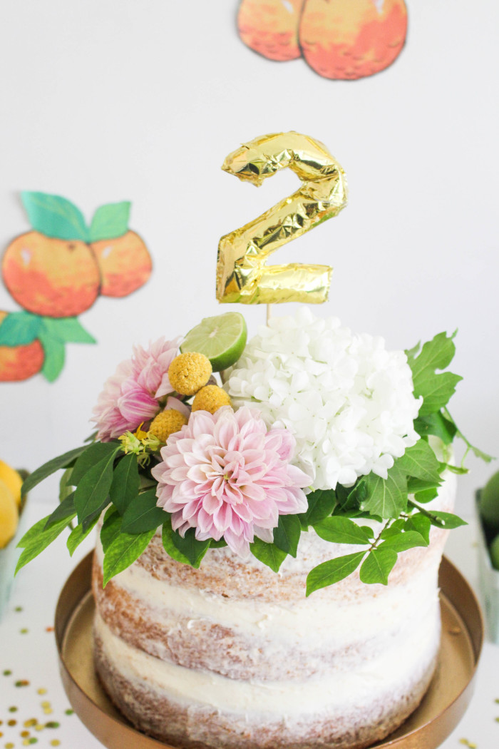 Vintage Citrus Floral Birthday Party via ajoyfulriot.com-3