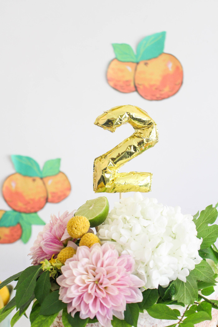 Vintage Citrus Floral Birthday Party via ajoyfulriot.com-9