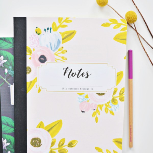 DIY Custom Notebooks with 4 Free Designs